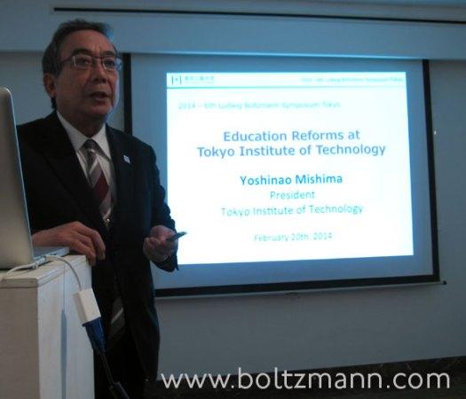 Professor Yoshinao Mishima, President of Tokyo Institute of Technology