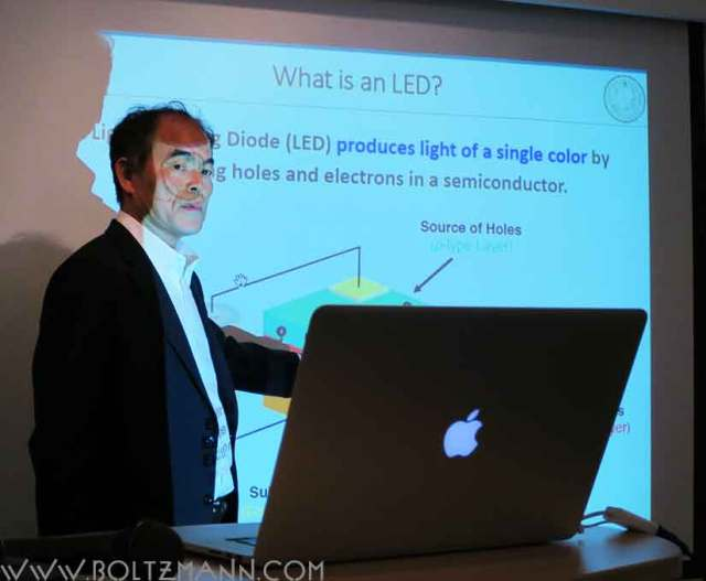 Shuji Nakamura  Developments of InGaN-based double hetero-structure high brightness blue LEDs and future lighting