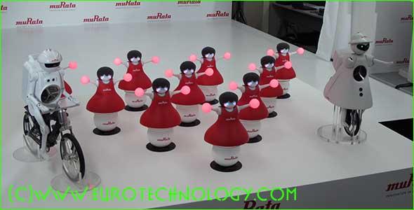 Murata Boy, Girl and the Cheerleader robots