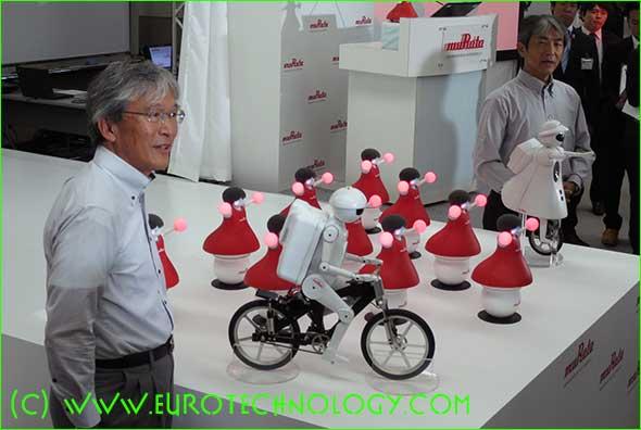 Yuichi Kojima, Koichi Yoshikawa, Murata Boy, Murata Girl, and the Murata Cheerleader Robots