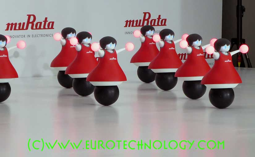 Murata cheerleader robots demonstrate stability (balancing bodies on spheres), sensing, and synchronized dance. However, limited by closed system