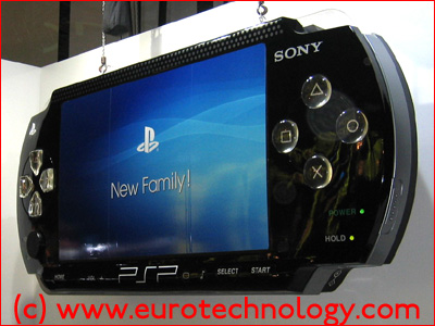 SONY PSP mock up for Tokyo Game Show TGS2004