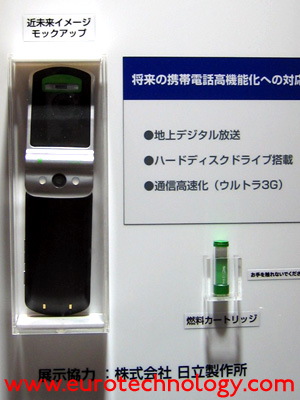 Hitachi prototype: fuel cell powered mobile phone