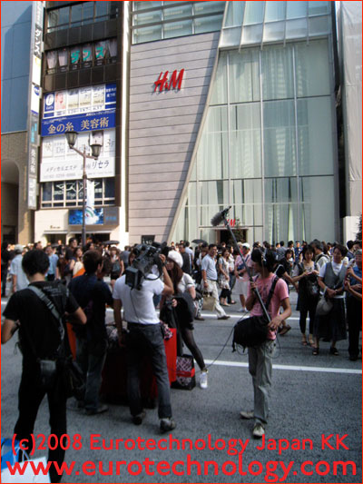 H&M opening in Ginza