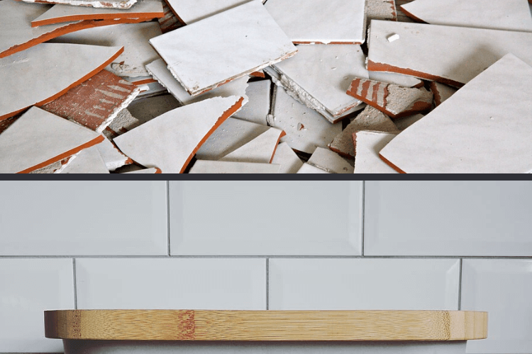 how to remove and replace a broken tile