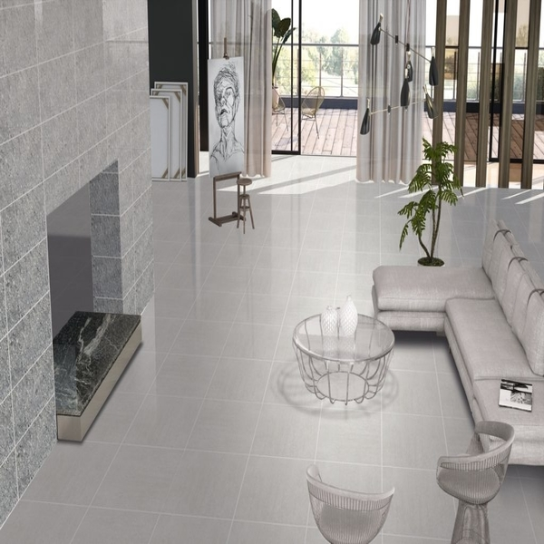 latin light grey large format polished porcelain wall and floor tile 80cm x 80cm