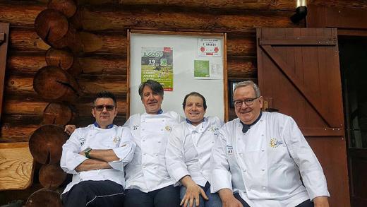 Il Bormio Golf festeggia i 25 anni In cucina 4 chef Euro-Toques
