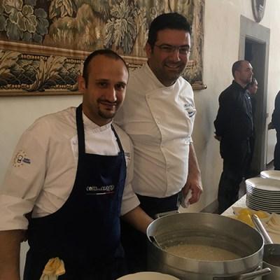Il lunch di Matteo Sangiovanni <br>Da Paestum alla tavola di Euro-Toques