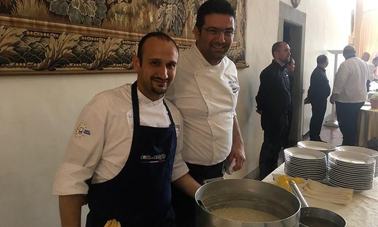 Il lunch di Matteo Sangiovanni Da Paestum alla tavola di Euro-Toques