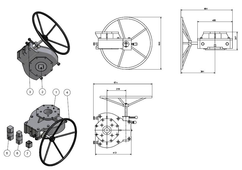 Manual Override Gearboxes