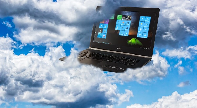 laptop on cloud