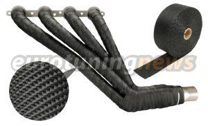 dei s black titanium exhaust wrap eurotuningnews com