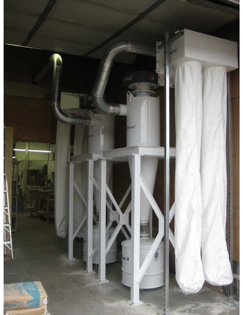 Cyclone Dust Collector with After Bag Filters