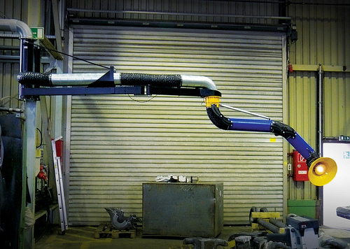 Fume Extraction Pivoting Boom Extensions