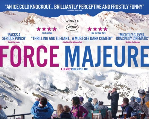 A promo image for Force Majeure, a film by Ruben Ostland from 2014
