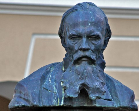 The statue of Dostoyevsky in Tallinn, Estonia