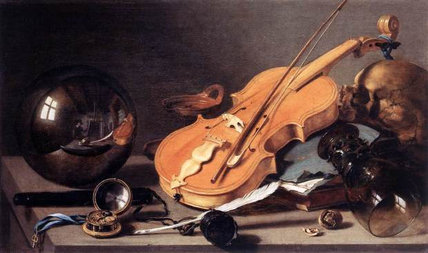 Pieter_Claesz._-_Vanitas_with_Violin_and_Glass_Ball_-_WGA04974