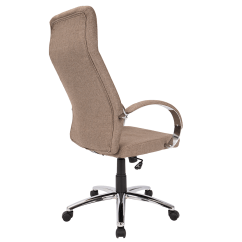 Contemporary Office Chairs Grey Upholstered Dining Chair Allegra Brown Modern Eurway Furniture 6 Product Images