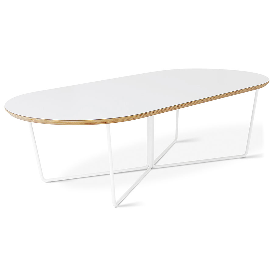 gus modern array white oval coffee table eurway