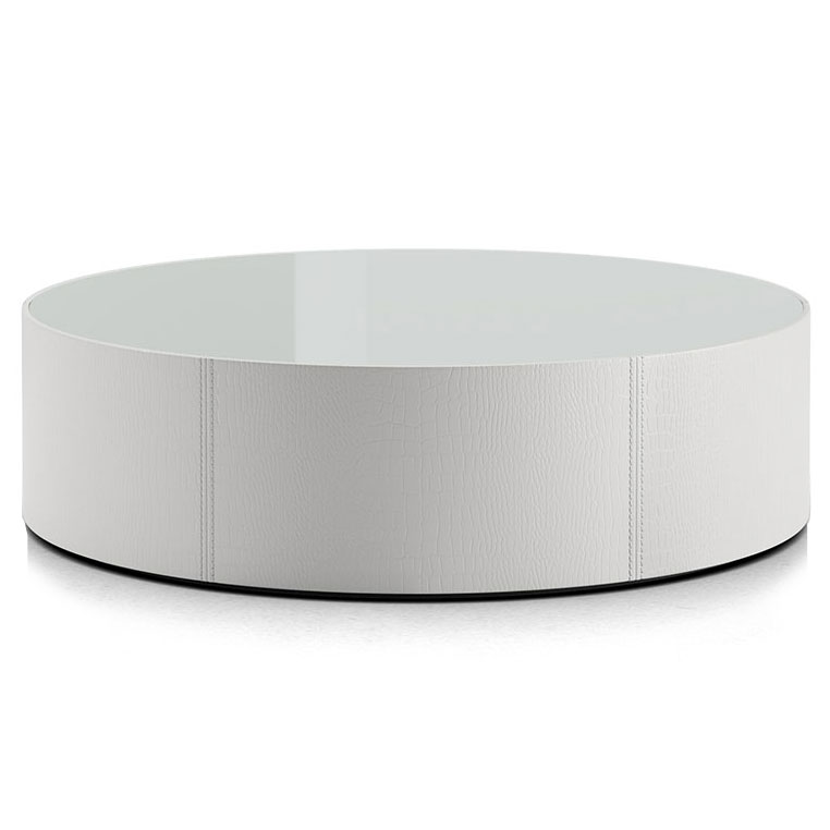 berkeley coffee table white glass