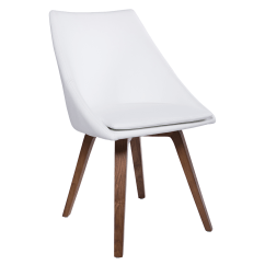 Faux Leather Dining Chairs Beautiful Accent Calla White Modern Chair By Euro Style Eurway