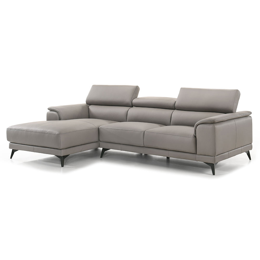 cartagena left facing chaise sectional light grey