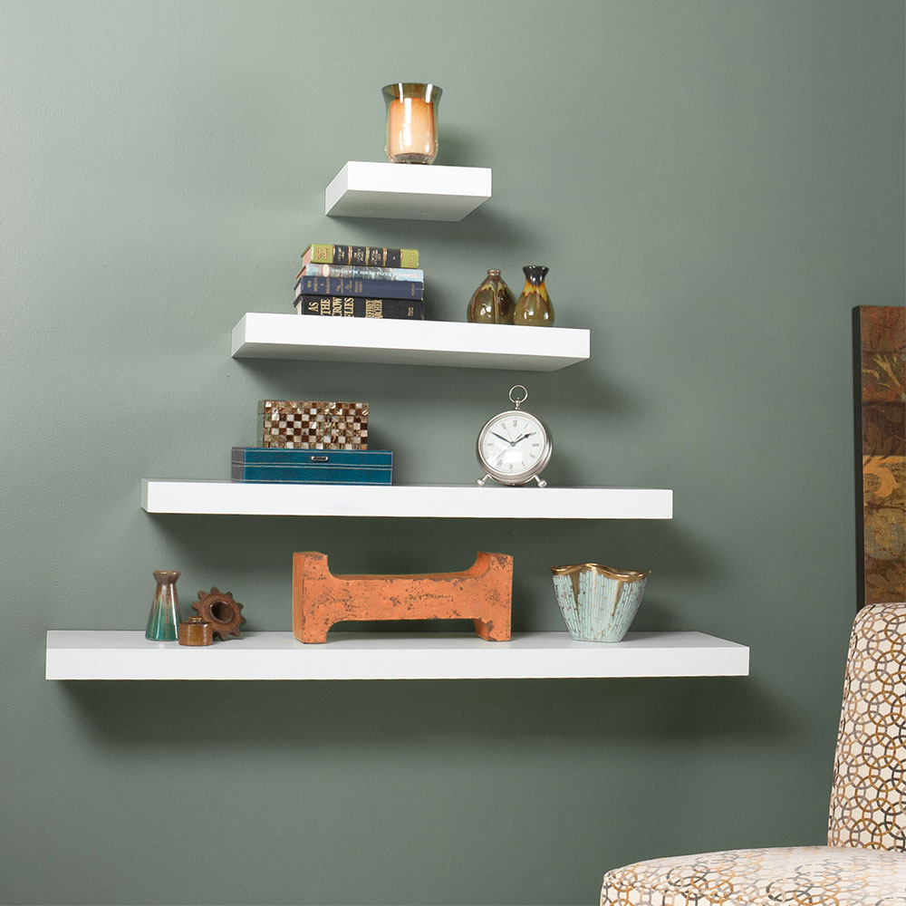 Modern Wall Shelves Cary 10 In White Wall Shelf Eurway