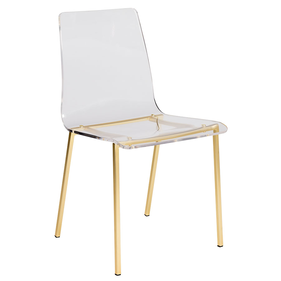 gold dining chairs replacement outdoor chair cushions chloe modern base by euro style eurway set of 4