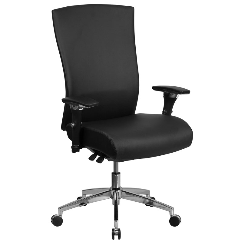 black leather office chair high back gray dining chairs corona modern eurway