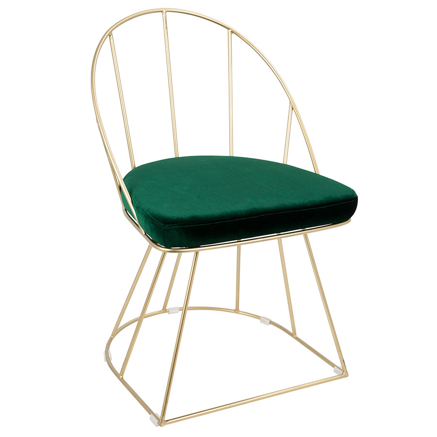 modern green dining chairs hammock chair accessories side council eurway