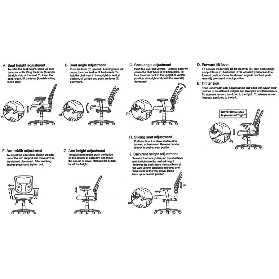 office chair diagram with adjustable lumbar support easton modern low back eurway furniture