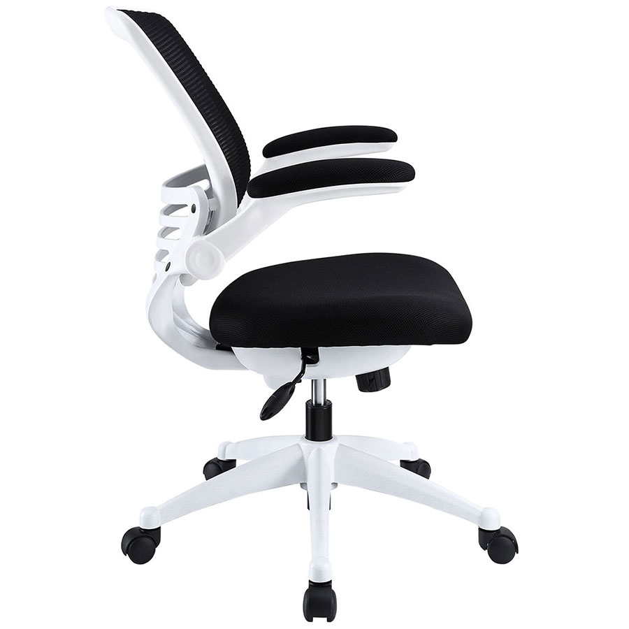 modern white desk chair jerry johnson ede fabric black office eurway