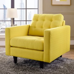 Tufted Yellow Chair High For Babies Modern Lounge Chairs Enfield Eurway