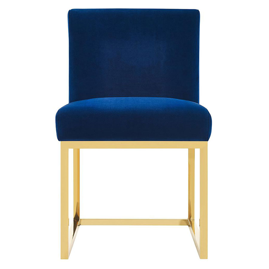 gold dining chairs padded lawn modern hague blue side chair eurway 5 product images