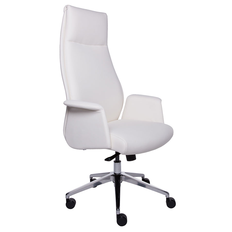 office chair high back wood chairs ilaria white by euro style eurway