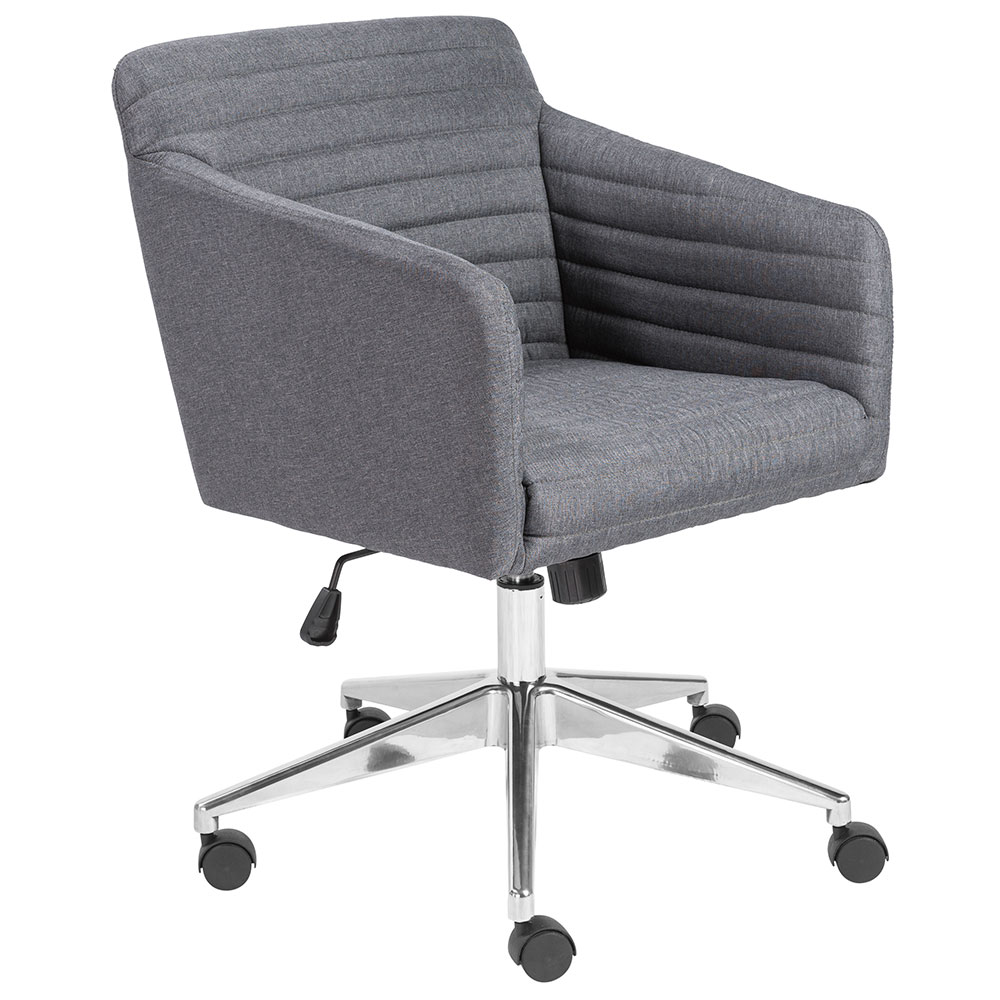 cloth office chairs canvas chair covers auckland kris modern gray fabric by euro style eurway