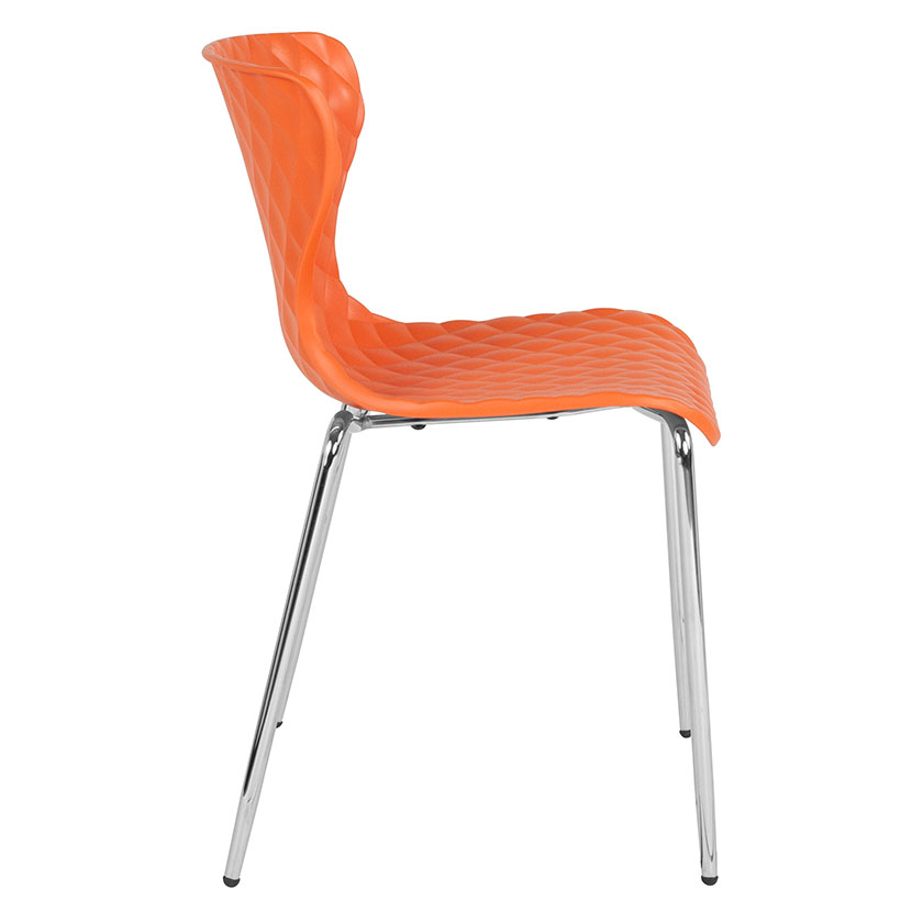 orange side chair two person table and chairs laredo modern stacking eurway 4 product images