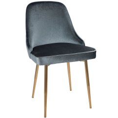 Gold Dining Chairs Leather Parsons Modern Side Malta Blue Chair Eurway