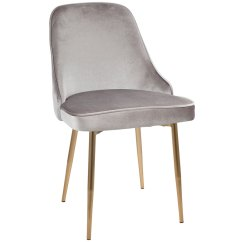 Gold Dining Chairs Bag Chair With Canopy Modern Side Malta Silver Eurway