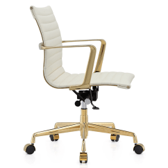 White And Gold Chair Silver Banquet Covers Marquis Leather Modern Office Eurway