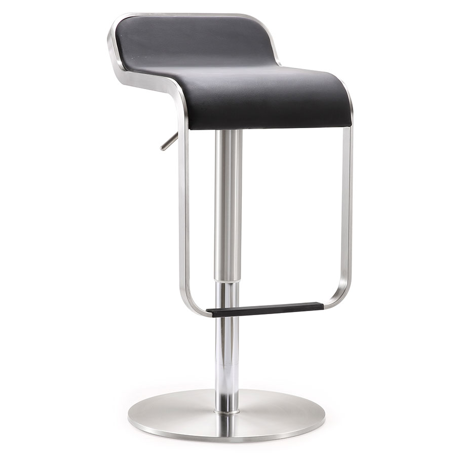 adjustable height chairs material to recover dining modern stools narbonne black stool eurway