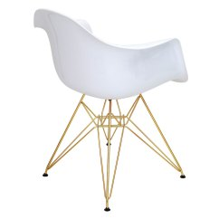 White And Gold Chair Tobias Clear Chrome Plated Modern Arm Chairs Nashua Eurway