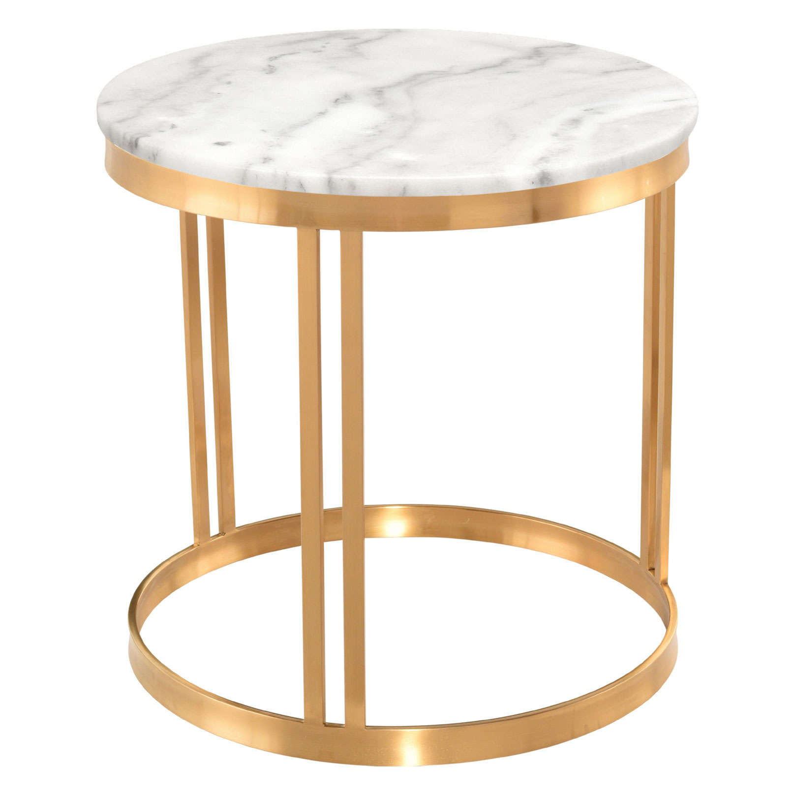nicola side table white gold