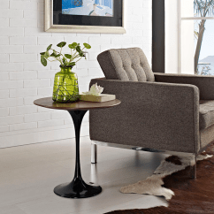 Modern Side Tables For Living Room Accent Odyssey 20 Round Walnut Table Eurway
