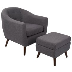 Black Chair And Ottoman Small Fold Up Camping Chairs Radbury Gray Modern Eurway Furniture