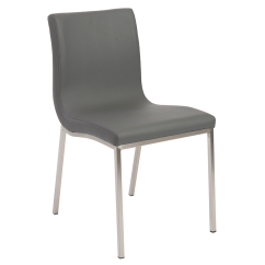 Modern Gray Dining Chairs Accent Pattern Scott Chair By Euro Style Eurway