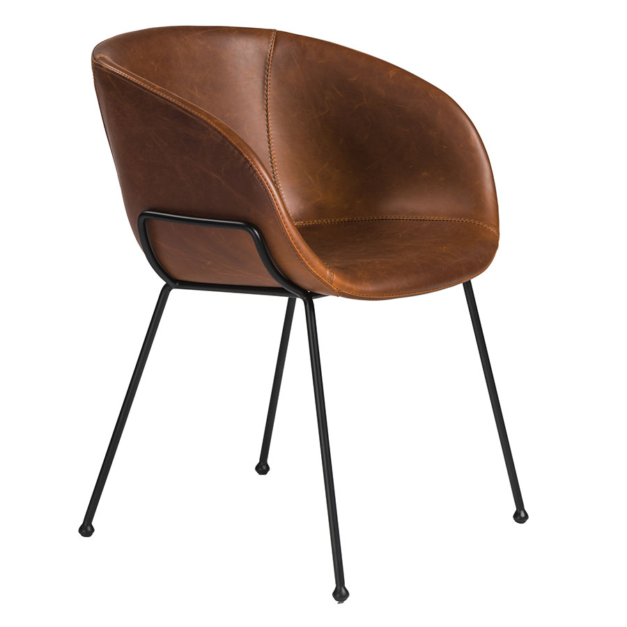 modern leather dining chairs with arms posture chair uk zach brown arm by euro style eurway