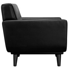 Black Side Chair Special Needs Chairs Uk Empire Modern Leather Eurway Furniture
