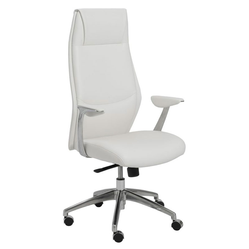 modern white desk chair nursery chairs ikea crosby high back office by euro style eurway
