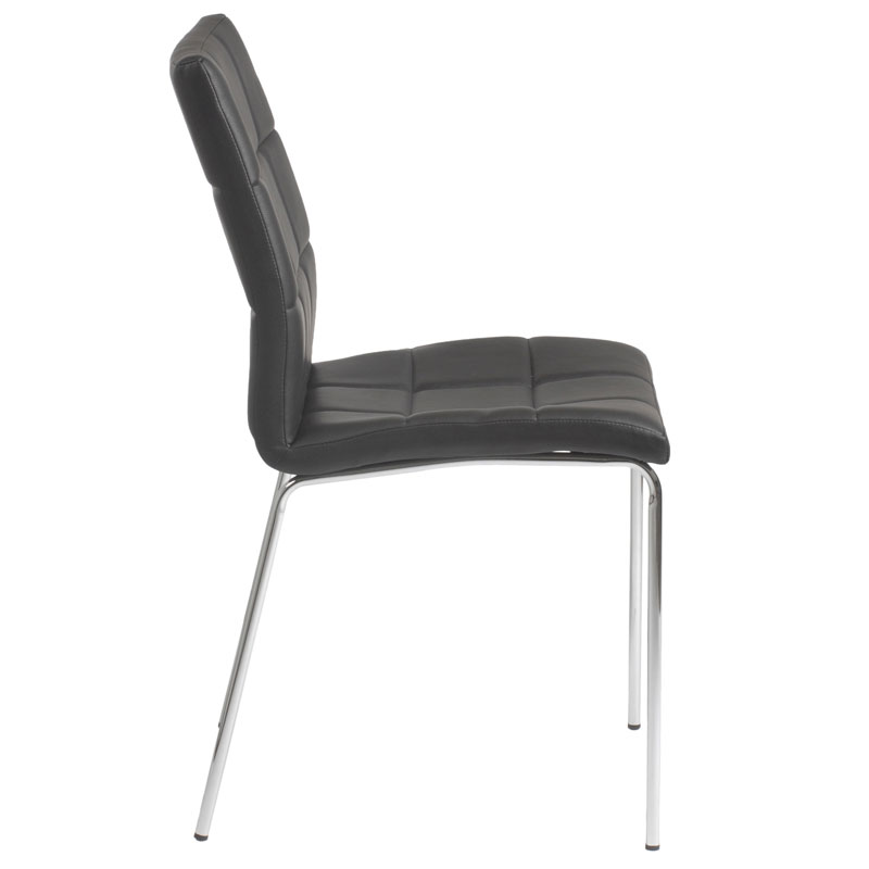black side chair revolving of modern dining chairs cybil eurway view